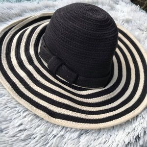 Kate Spade Black and White Hat